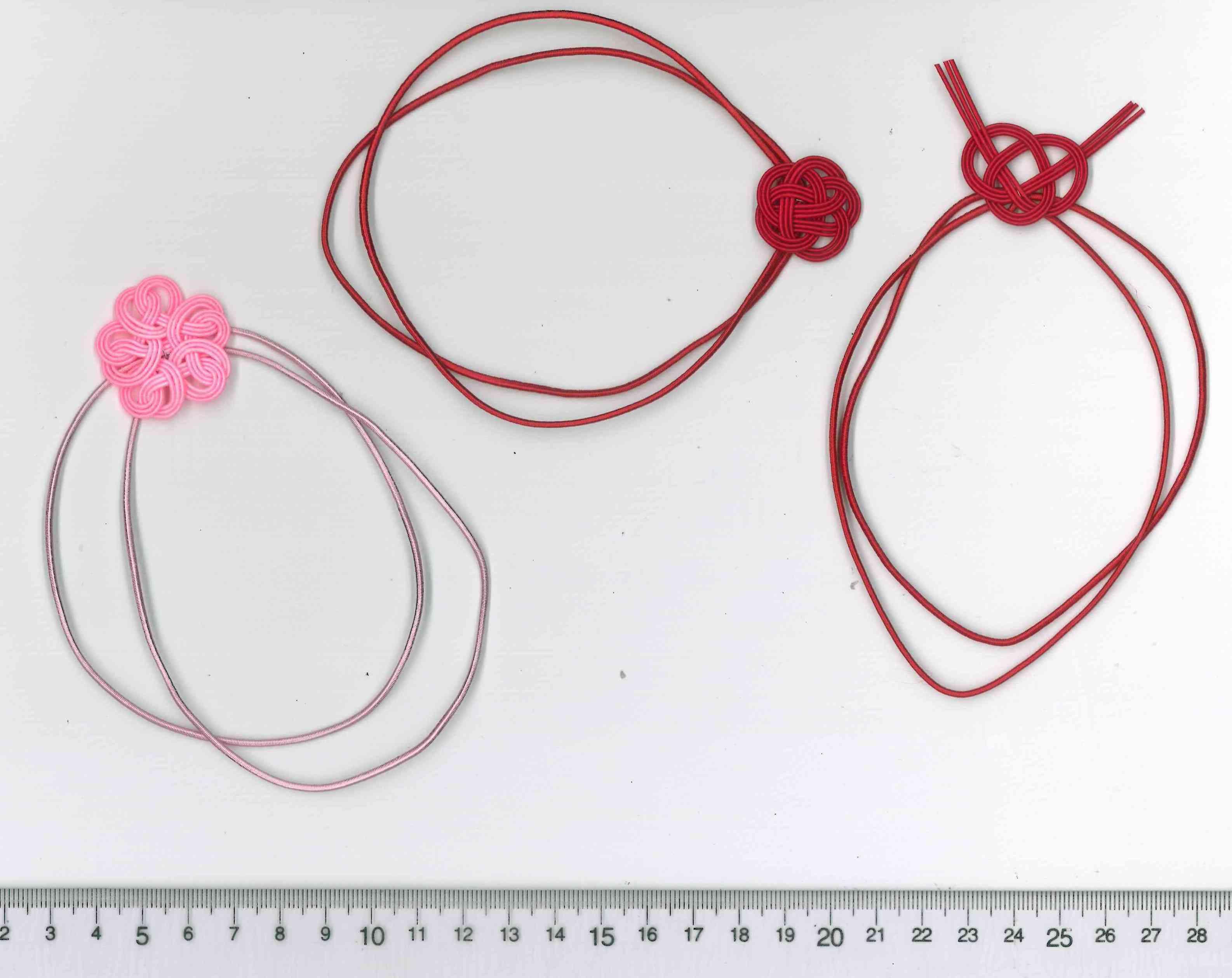 あわじ結び、梅結び、桜結び 水引を使ったギフト用和風ラッピング資材
