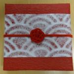 水引3本梅結び(ゴム紐付)の祝賀会の記念品に利用 プレゼント用和風ラッピング