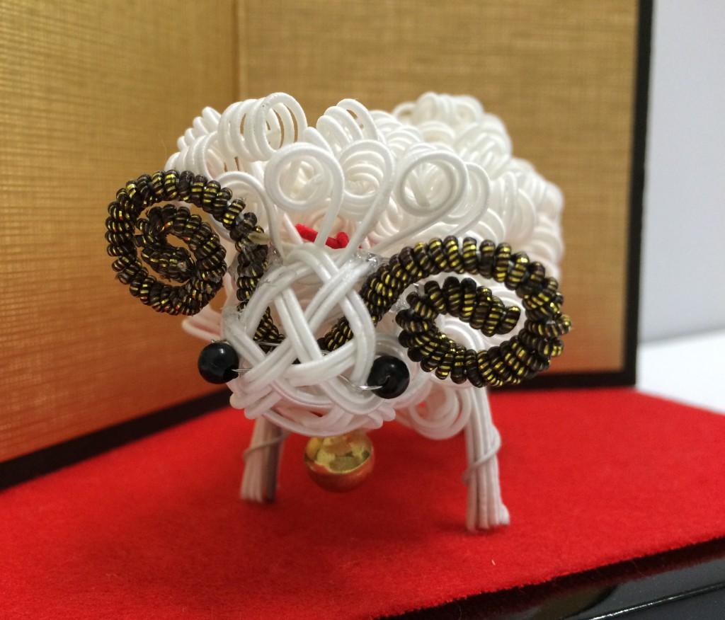 水引で作る干支飾り羊