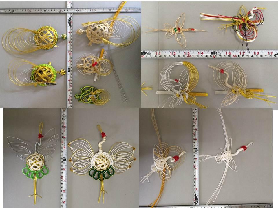鶴と亀 水引細工・飾り結び