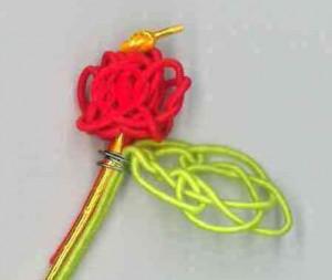 薔薇(バラ)のつぼみ結び赤