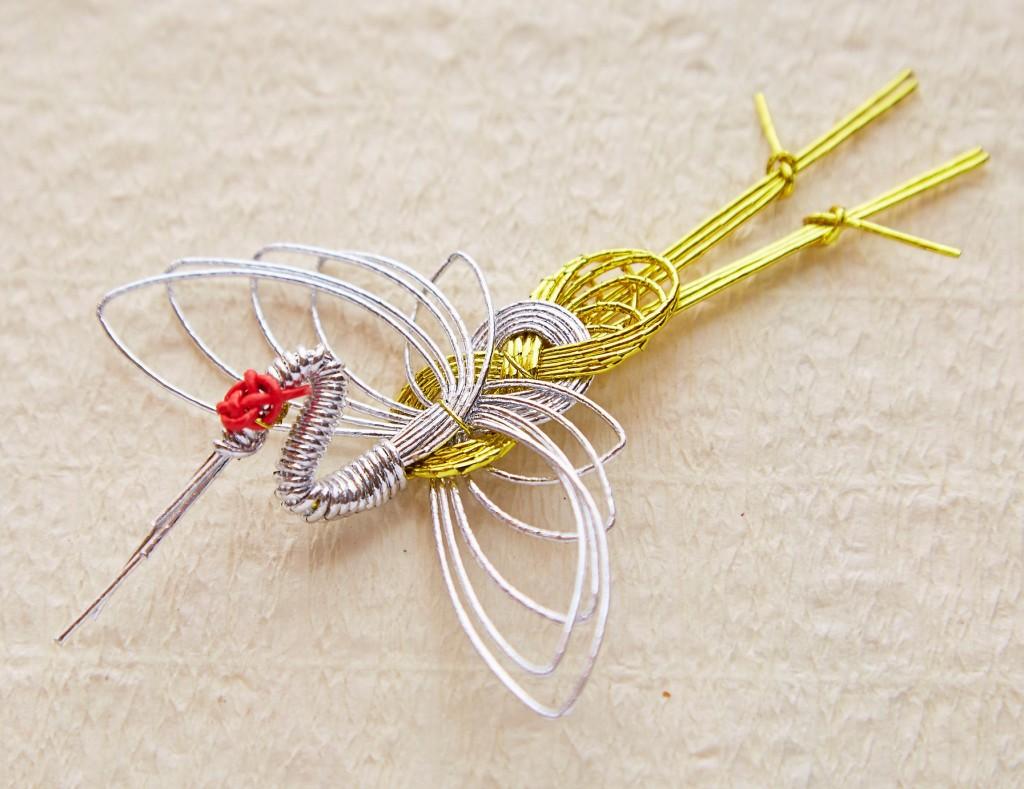 水引細工・鶴の箸置き