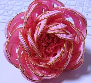 水引で作る桜色の髪飾り 水引素材の利用方法