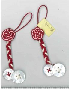 紐梅結び+三つ編み+ボタン付 タカシマ様