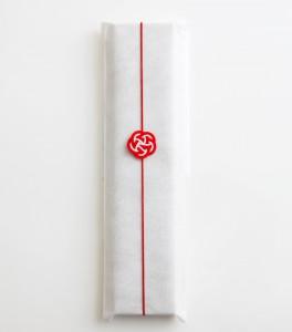 九雲さん 包丁ラッピング 紅白梅