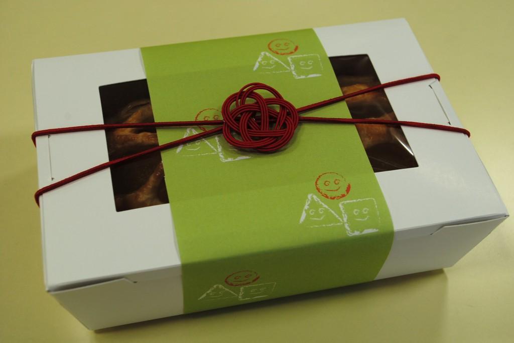 3本梅結び 洋菓子プレゼントラッピング
