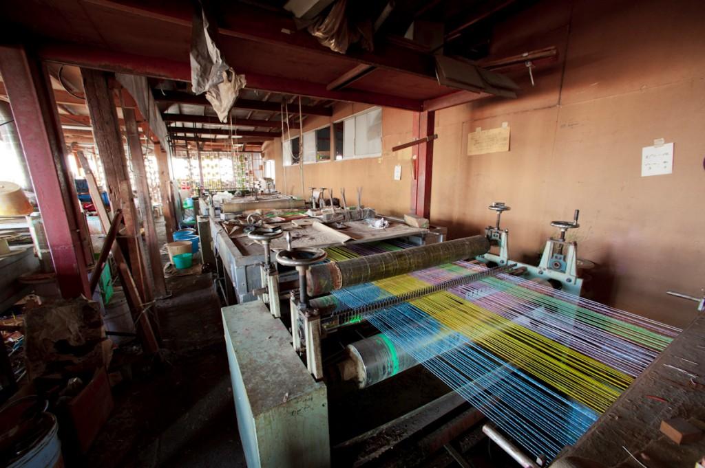 水引紐 製造風景 製造機械
