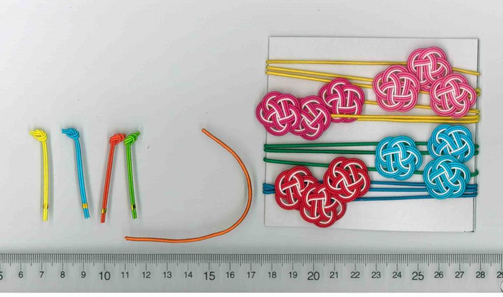水引梅結びとゴム紐の色違い 水引熨斗(のし)4色