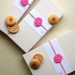 水引梅結び 和菓子のバレンタインデー用ラッピング