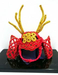 水引五月人形の鎧兜 真田六文銭