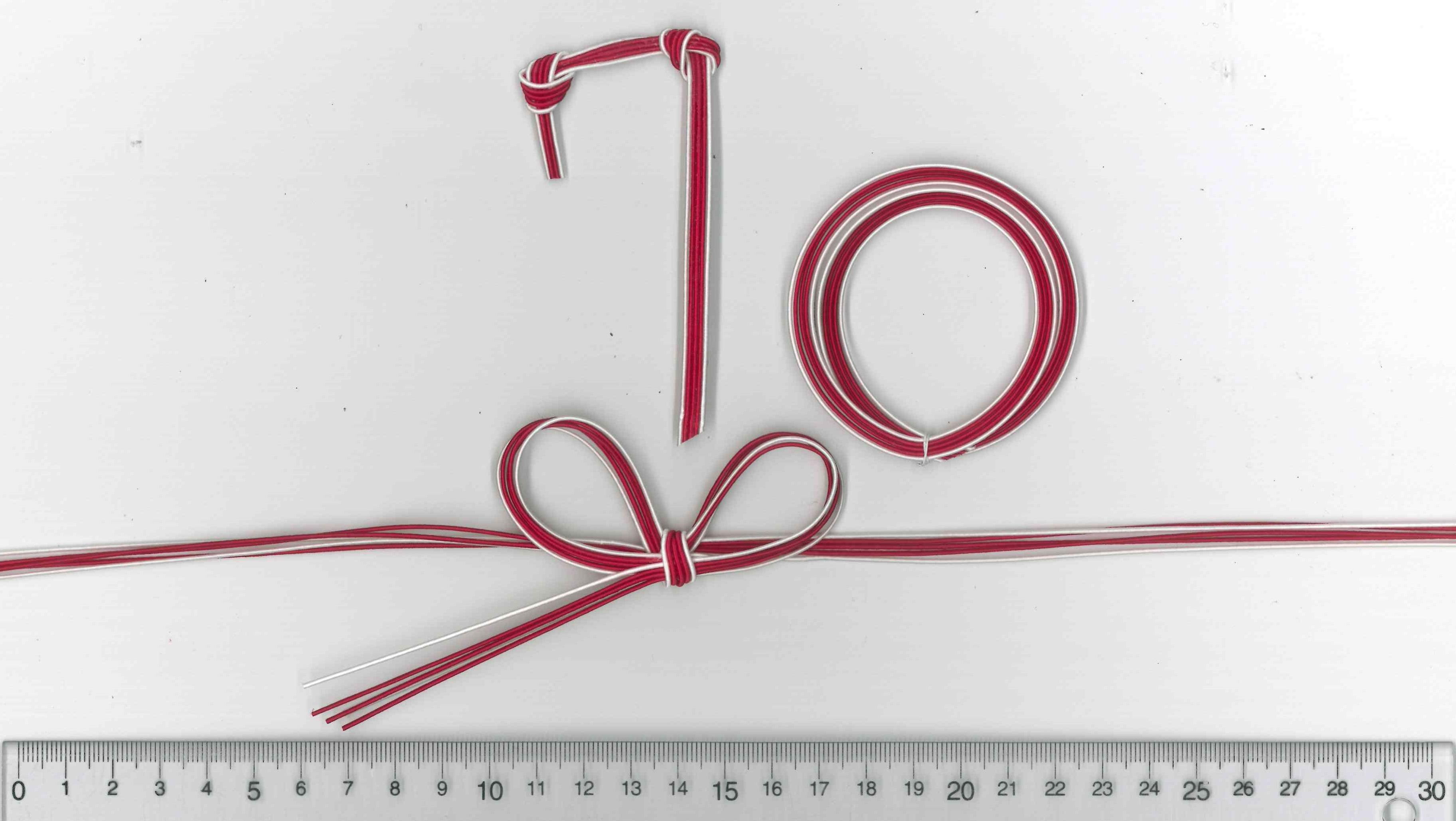 水引飾り結びで数字の70を表現