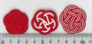 水引5本梅結び 赤のみ、紅白、紅白縞模様