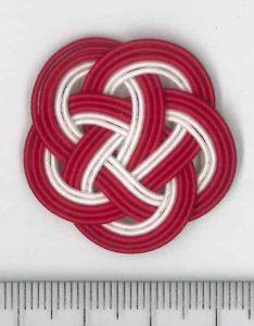 水引5本梅結び 赤赤赤白白