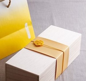 水引5本黄色の梅 大阪ハニーさん 拡大