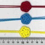 水引3本梅結び 赤 青 黄