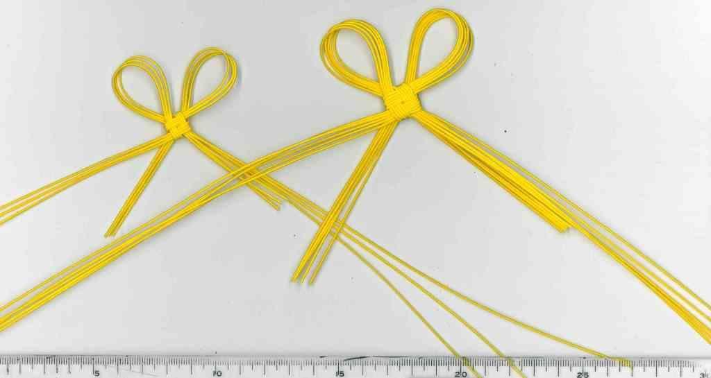 黄色の水引叶結び