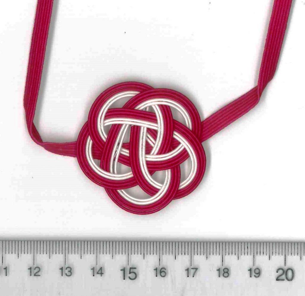 直径4cmの赤赤赤白白の梅結び