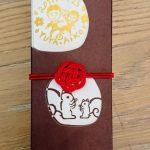 結婚式の引菓子用の水引梅結び