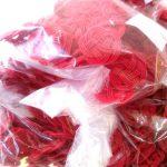 赤色の水引3本赤梅23mmの在庫