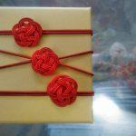 水引3本の赤色梅結び