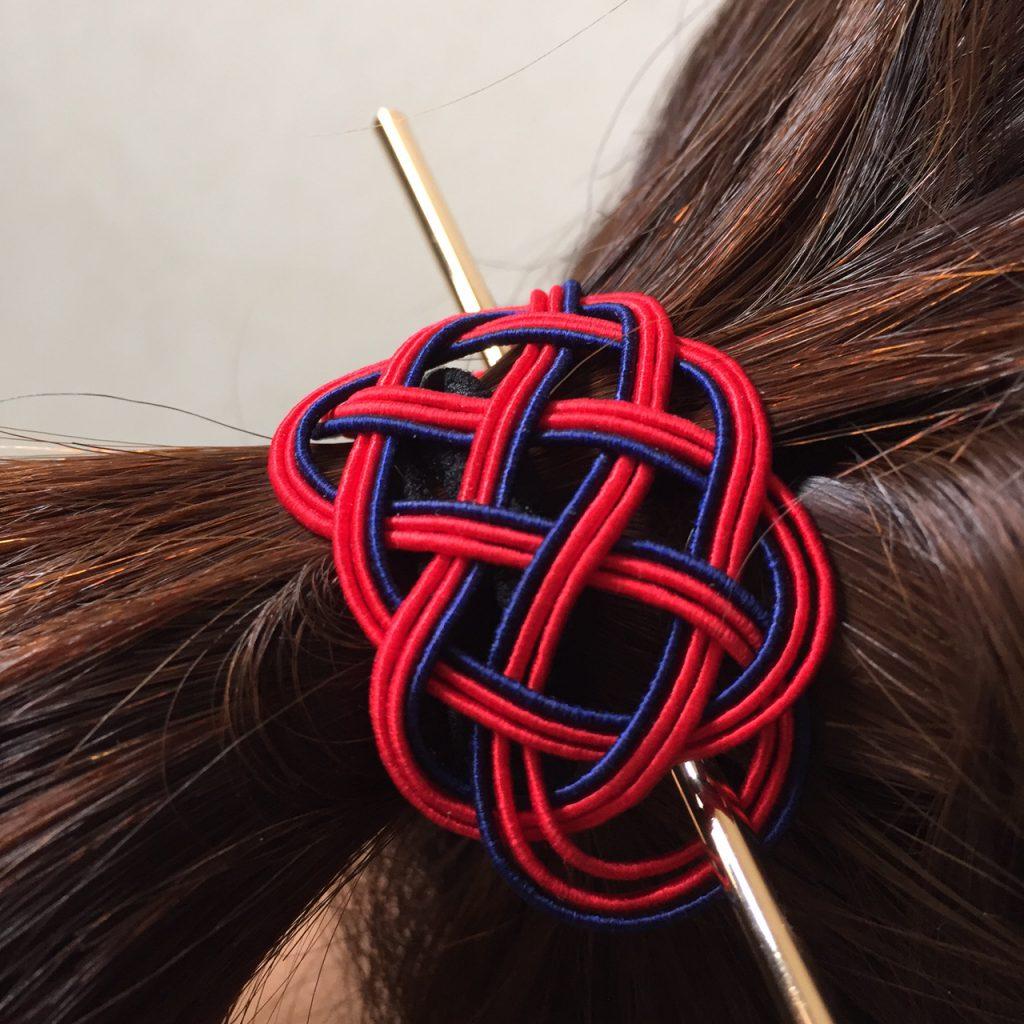水引の髪飾り