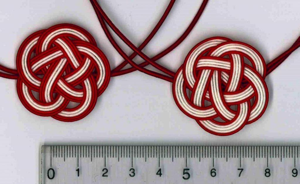 水引5本梅結び 赤赤白白赤と赤白白白赤