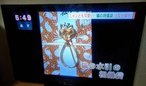 猫の祝儀袋が長野県の夕方ニュースで放送
