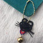 水引の黒猫チャーム