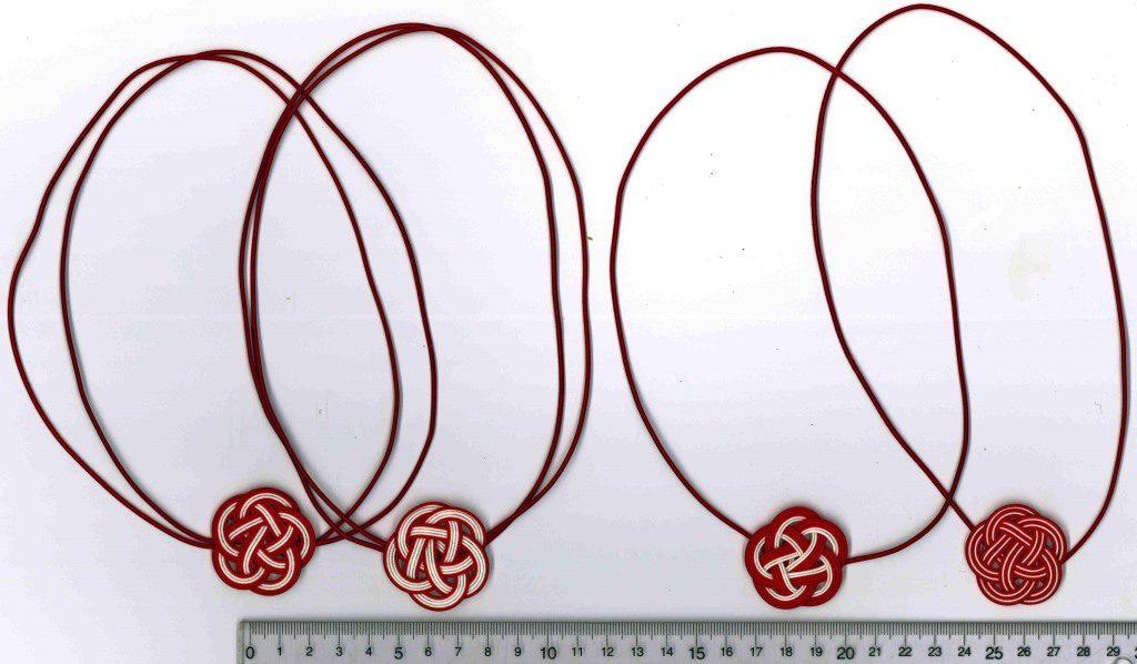 紅白の水引梅結びの配色サンプル