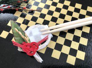 水引あわじ結びの箸置き