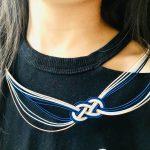 水引抱きあわじ結びのネックレス
